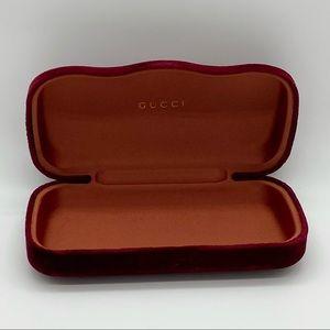Gucci velvet sunglasses case